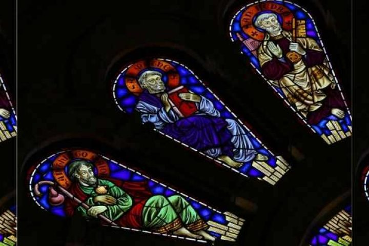 All Saints Day Stained Glass Window